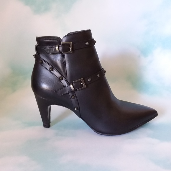 Napoleoni Shoes - Napoleoni Black Leather Ankle Boots